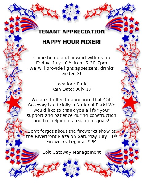 Tenant Appreciation Happy Hour Mixer