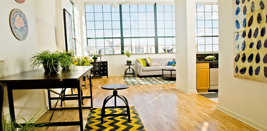 Colt Gateway apartments provide fashionable living spaces in Hartford.