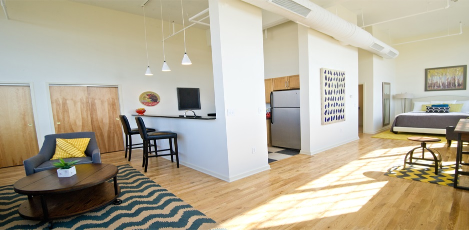 Colt Gateway is a charming, contemporary live-work space in Hartford CT.